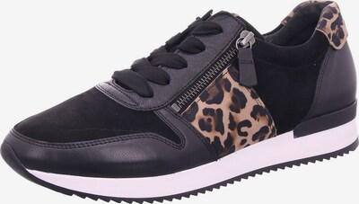 GABOR Sneakers laag in de kleur Bruin / Lichtbruin / Zwart, Productweergave