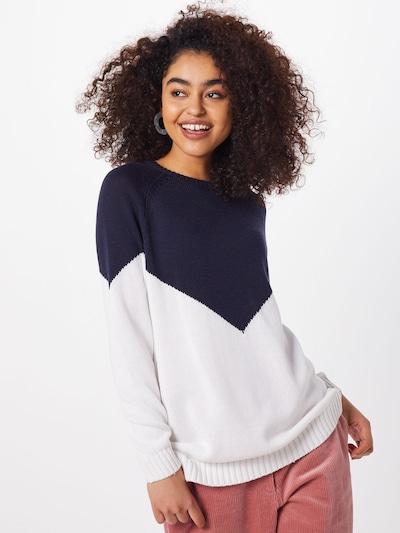 ONLY Pullover 'SARA' in dunkelblau / weiß, Modelansicht