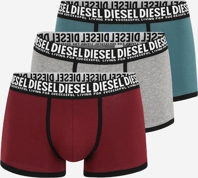 DIESEL Boxershorts 'Damien' in grau / petrol / bordeaux, Produktansicht