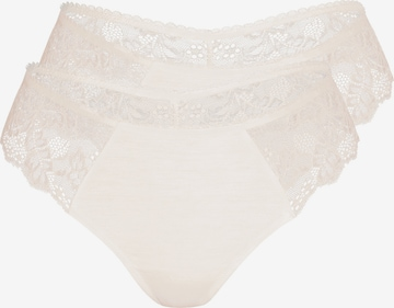 sassa String 'Bamboo & Lace' in Beige