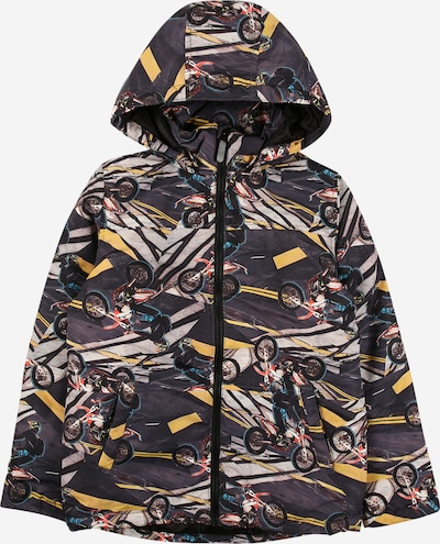 NAME IT Jacke 'MAX' in gelb / basaltgrau / hellgrau / orangerot / schwarz, Produktansicht