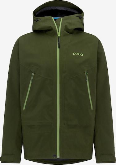 PYUA Outdoorjas 'Gorge-Y' in de kleur Groen, Productweergave