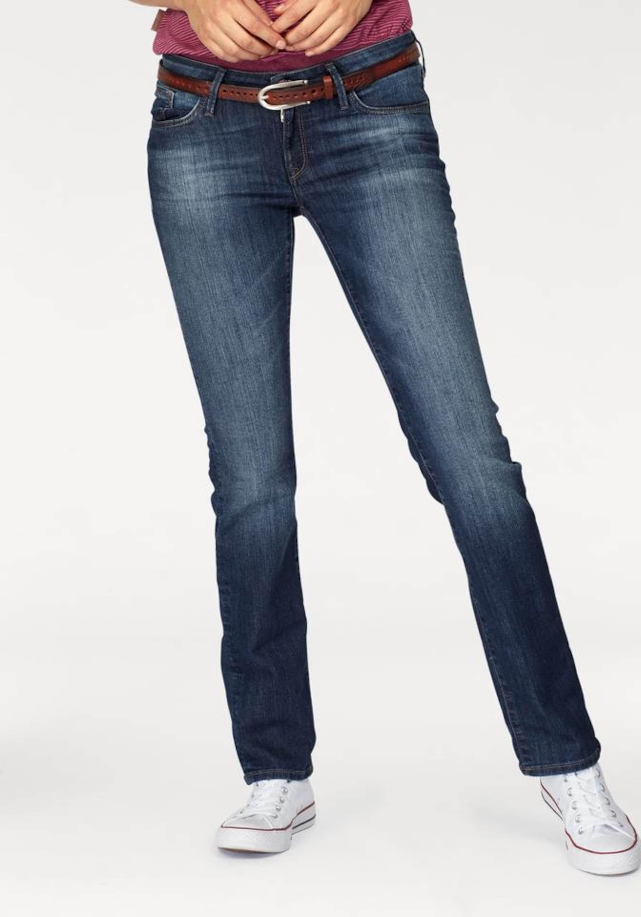 Mavi Straightcut Jeans mit Used Waschung 'Olivia'
