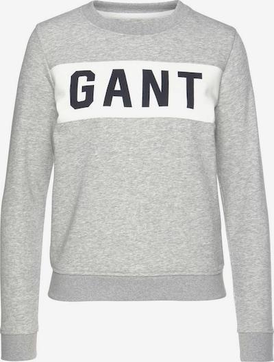 GANT Sweatshirt in hellgrau / weiß, Produktansicht