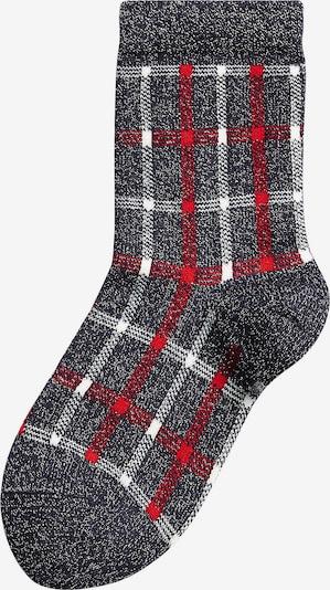 NEXT Socken in nachtblau / rot / silber / weiß, Produktansicht