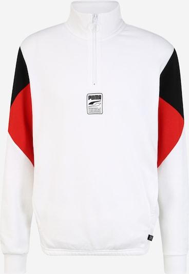 PUMA Bluzka sportowa 'Rebel' w kolorze czerwony / czarny / białym, Podgląd produktu