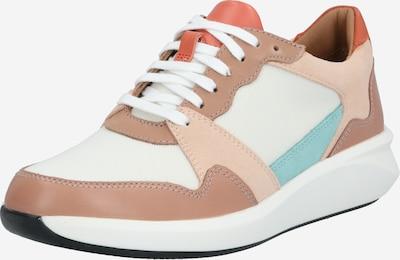 CLARKS Sneaker 'Un Rio Run' in beige / grün / rosé, Produktansicht