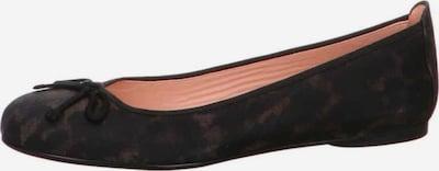 UNISA Ballerinas in braun / schwarz, Produktansicht