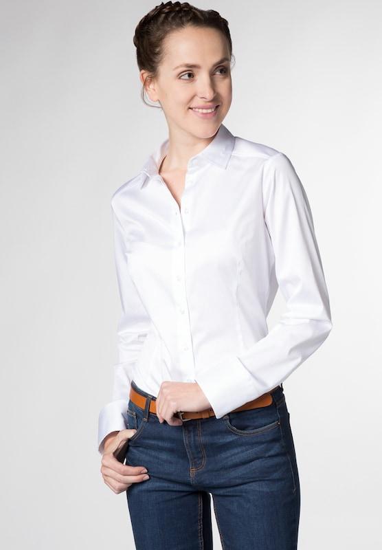 ETERNA Langarm Bluse für grosse Frauen 'SLIM FIT'