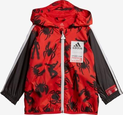ADIDAS PERFORMANCE Jacke 'Spiderman' in rot / schwarz / weiß, Produktansicht
