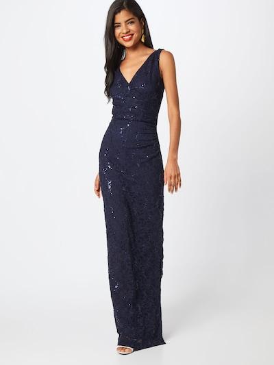 STAR NIGHT Abendkleid 'long dress lace & sequins' in navy, Modelansicht