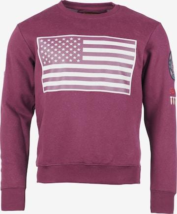 TOP GUN Sweater 'TG-9018' in Rot