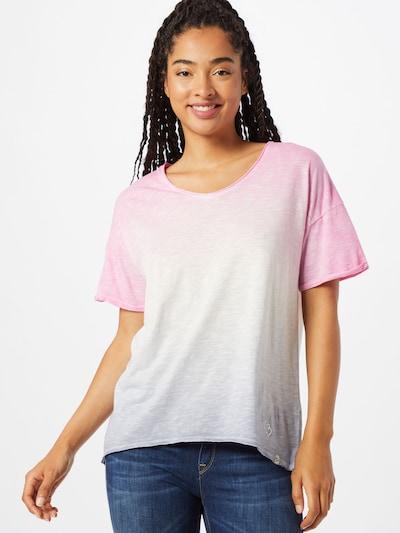Key Largo Koszulka 'CHILL' w kolorze goryczka / różowy / białym: Widok z przodu