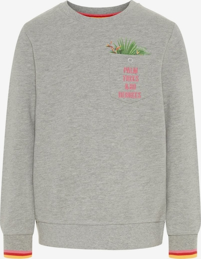 NAME IT Sweatshirt in gelb / graumeliert / grün / pink / rot, Produktansicht