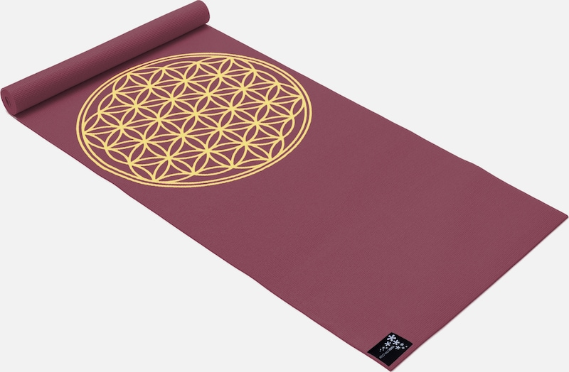 YOGISTAR.COM Yogamatte 'Basic Flower Of Life' in rot, Produktansicht