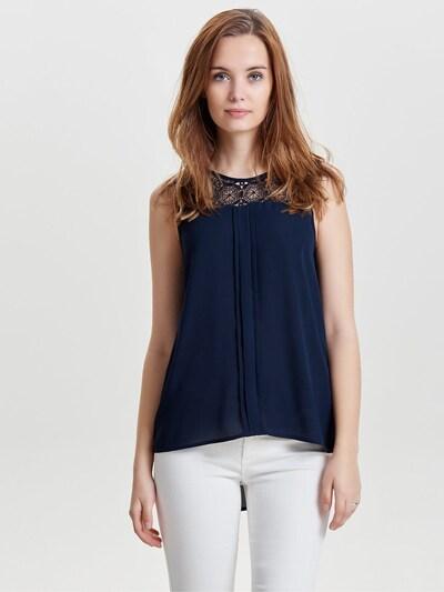 ONLY 'Onlvenice Noos' Top mit Spitze in nachtblau, Modelansicht
