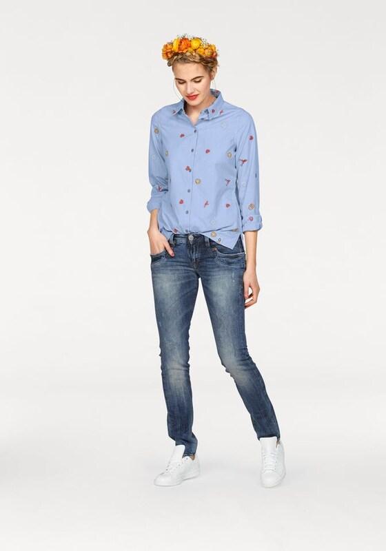 Herrlicher 'Piper Slim Denim Comfort' Verwaschene Jeans