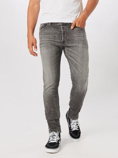 DIESEL Jeans 'Tepphar-X' in grey denim: Frontalansicht