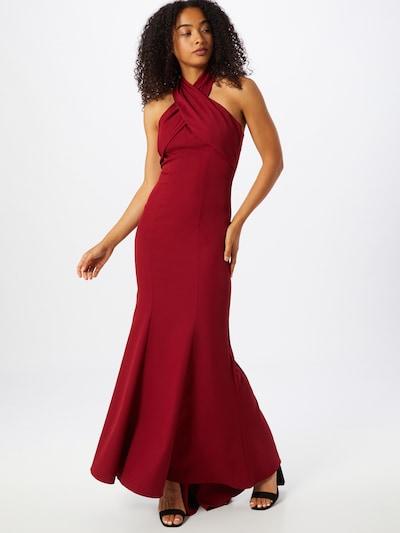 Chi Chi London Kleid in burgunder, Modelansicht