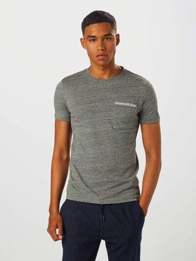 Calvin Klein Jeans T-Shirt in grau: Frontalansicht