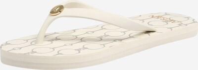 Lauren Ralph Lauren Teenslipper 'SHAWNA' in de kleur Beige / Wit, Productweergave