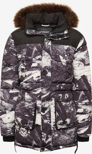 Superdry Winterjas 'SD EXPLORER' in de kleur Grijs / Zwart / Wit, Productweergave