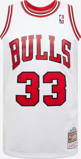 Mitchell & Ness T-Shirt 'NBA SWINGMAN' en rouge / blanc, Vue avec produit