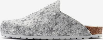 LASCANA Hausschuhe in grau / hellgrau, Produktansicht
