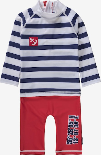 SWIMPY Schwimmanzug in blau / rot / weiß, Produktansicht