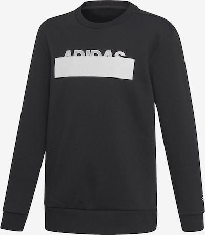 ADIDAS PERFORMANCE Sweatshirt 'Id Lin' in schwarz / weiß, Produktansicht