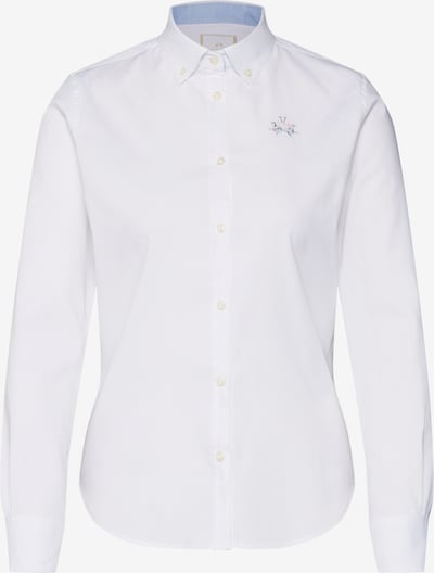 La Martina Bluse 'SHIRT L/S OXFORD 50/1 30/2 STR' in weiß, Produktansicht