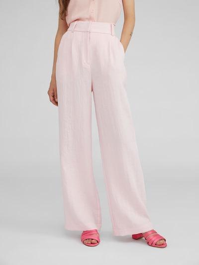 Klostuotos kelnės 'Juna' iš EDITED , spalva - rožinė, Modelio vaizdas