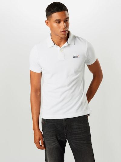 Superdry T-Shirt en bleu marine / blanc: Vue de face