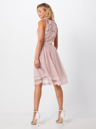 VILA Koktejl obleka 'ZINNA' | roza barva: Pogled od zadnje strani