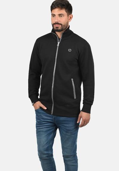 !Solid Sweatjacke 'BennTrack' in schwarz / weiß, Produktansicht
