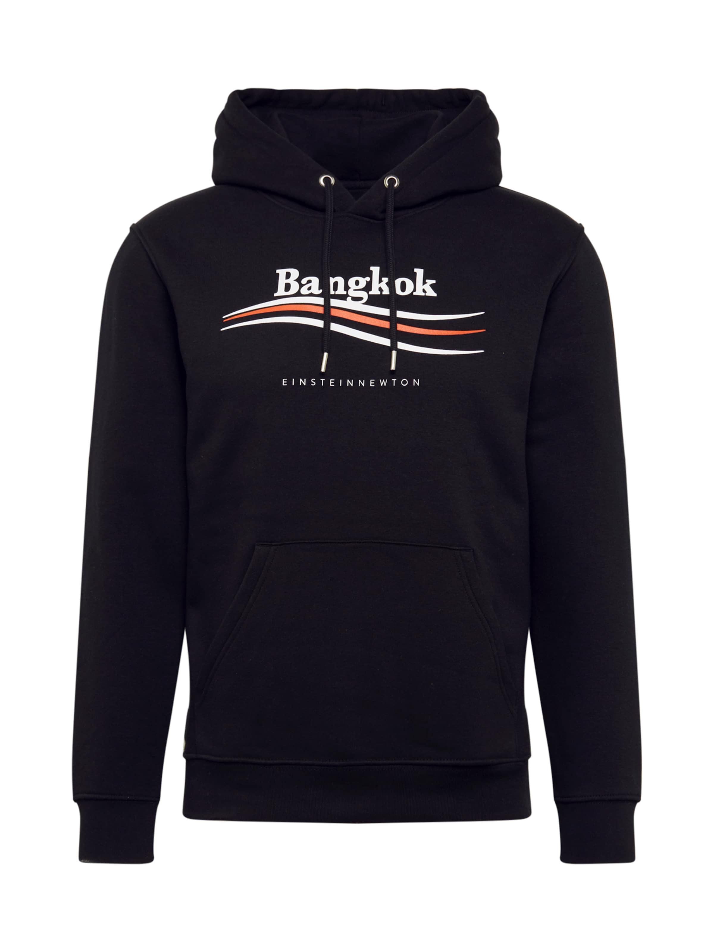EINSTEIN & NEWTON Sweatshirt 'Bangkok Nico Tin' i svart / vit