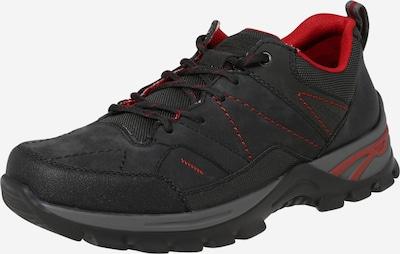 RIEKER Športni čevlji z vezalkami | temno siva / pegasto črna barva, Prikaz izdelka