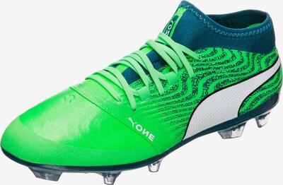PUMA Chaussure de foot 'ONE 18.2 AG' en pétrole / vert fluo, Vue avec produit