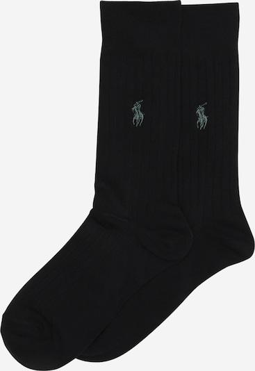 POLO RALPH LAUREN Chaussettes 'RIB EGYPTIAN-SOCKS-2 PACK' en noir, Vue avec produit