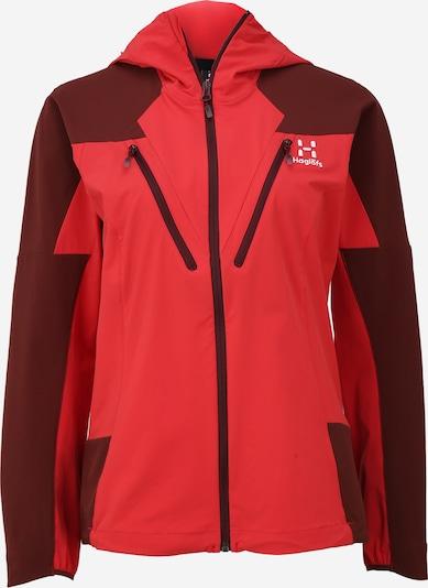 Haglöfs Sportjas 'Tegus' in de kleur Rood / Wijnrood, Productweergave