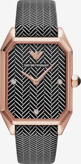 Emporio Armani Uhr in rosegold / schwarz / naturweiß, Produktansicht
