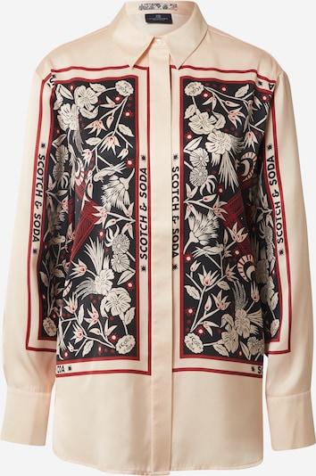 SCOTCH & SODA Bluse in creme / rot / schwarz, Produktansicht