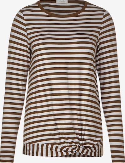 CECIL Shirt in hellbraun / weiß, Produktansicht