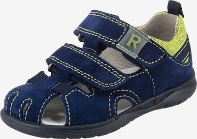 RICHTER Sandale in dunkelblau / gelb: Frontalansicht