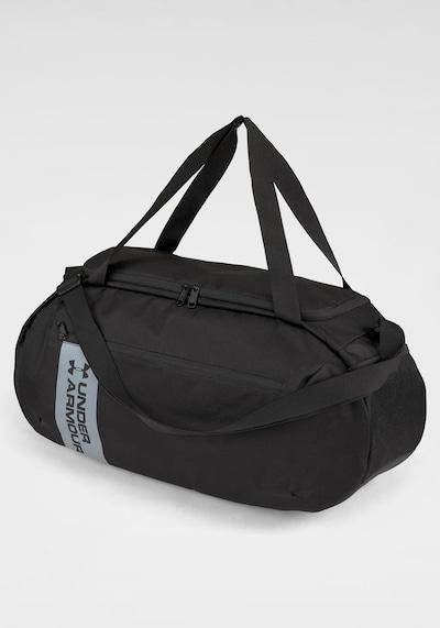 UNDER ARMOUR Sporttasche 'Roland' in schwarz / silber, Produktansicht