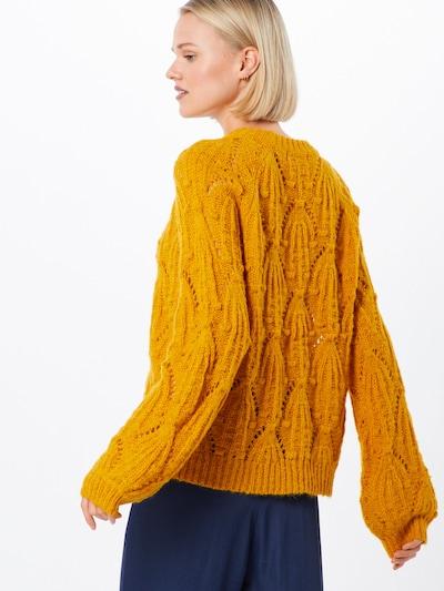 Megztinis 'Mavis' iš MOSS COPENHAGEN , spalva - geltona: Vaizdas iš galinės pusės