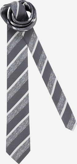 JACK & JONES Krawatte 'Vincent' in hellgrau / dunkelgrau / weiß, Produktansicht