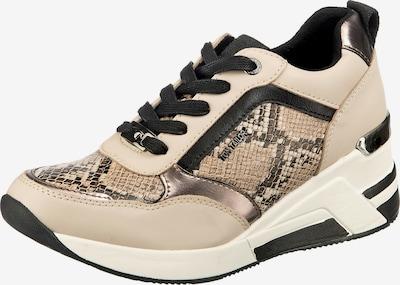 TOM TAILOR Sneaker in beige / schwarz / naturweiß, Produktansicht