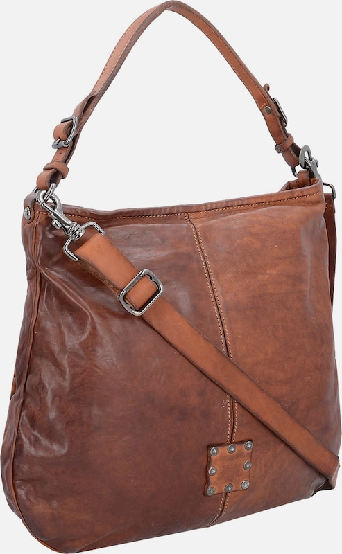 Campomaggi Traditional Schultertasche Leder 38 cm