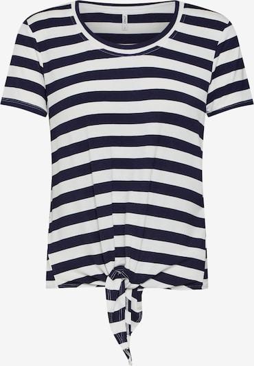 ONLY T-shirt en bleu nuit / blanc, Vue avec produit
